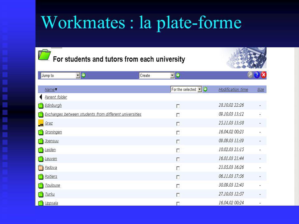 Workmates : la plate-forme