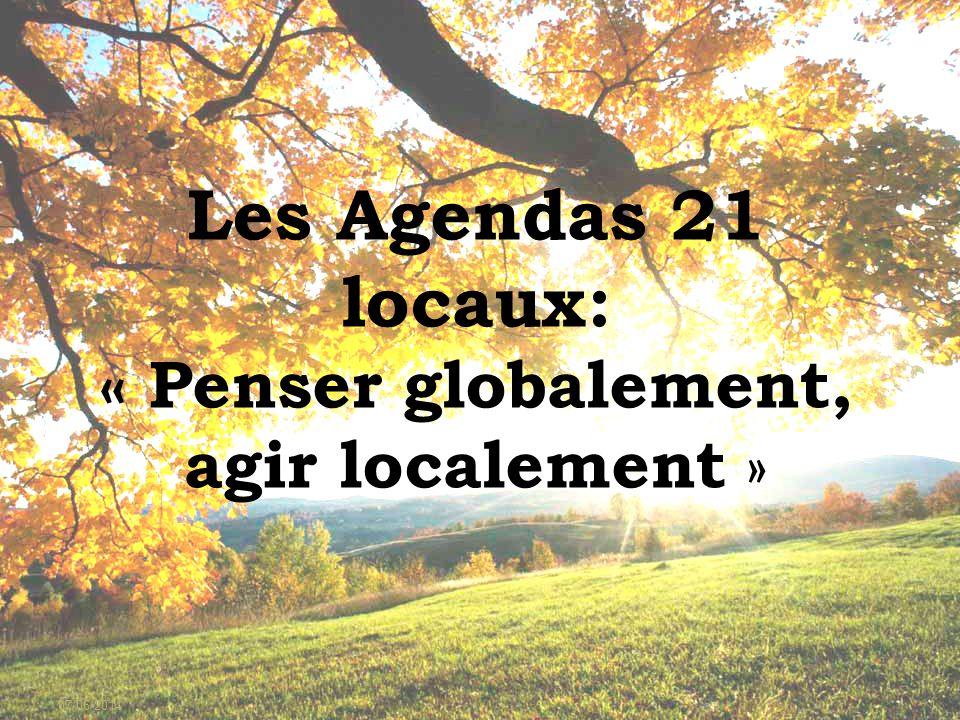07/06/20141 Les Agendas 21 locaux: « Penser globalement, agir localement »