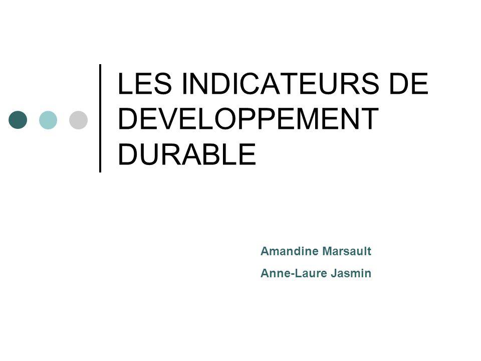 Du développement durable aux indicateurs Le développement durable est une notion assez générale, doù la nécessité de créer des indicateurs pour pouvoir mesurer les actions qui y sont liées.