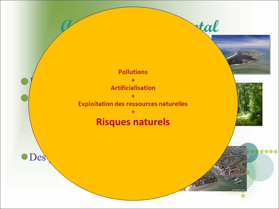 Enjeu environnemental Préservation...... des espaces... des ressources... des équilibres