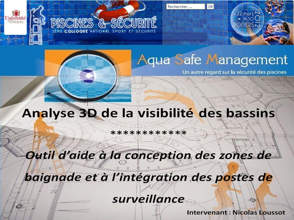 Page 12 Second Page : Analyse 3D de la visibilité des bassins Piscine de la Ganterie (Poitiers, 86) M odélisation 3D de lenvironnement bassin