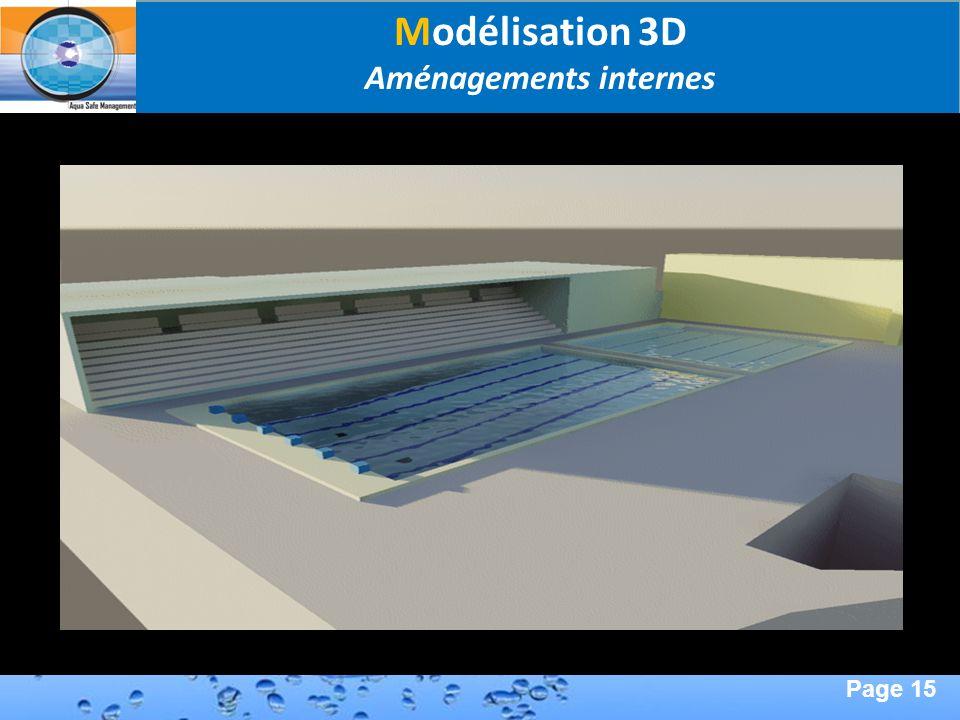 Page 15 Second Page : Modélisation 3D Aménagements internes