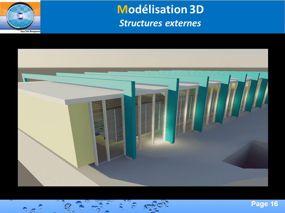 Page 16 Second Page : Modélisation 3D Structures externes