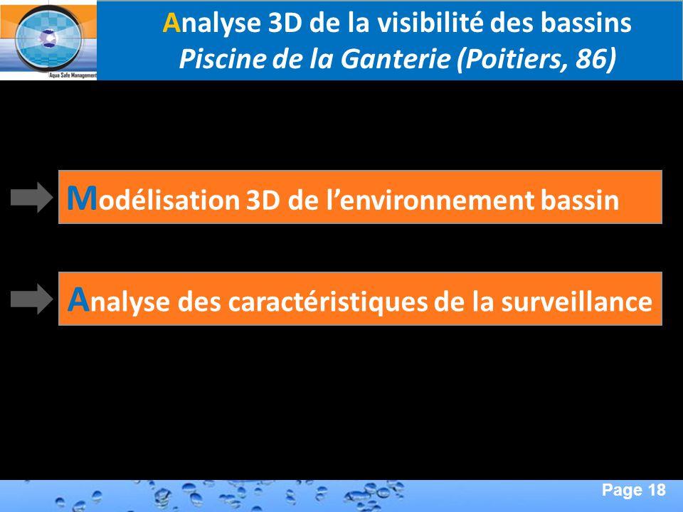 Page 18 Second Page : Analyse 3D de la visibilité des bassins Piscine de la Ganterie (Poitiers, 86) A nalyse des caractéristiques de la surveillance M