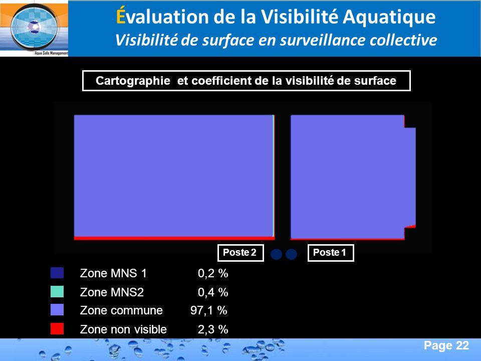 Page 22 Second Page : Zone commune 97,1 % Zone non visible 2,3 % Zone MNS 1 0,2 % Zone MNS2 0,4 % Poste 1Poste 2 Cartographie et coefficient de la vis