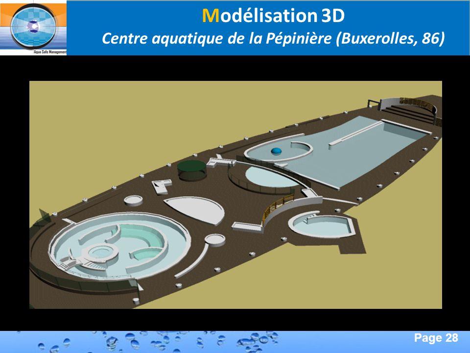 Page 28 Second Page : Modélisation 3D Centre aquatique de la Pépinière (Buxerolles, 86)