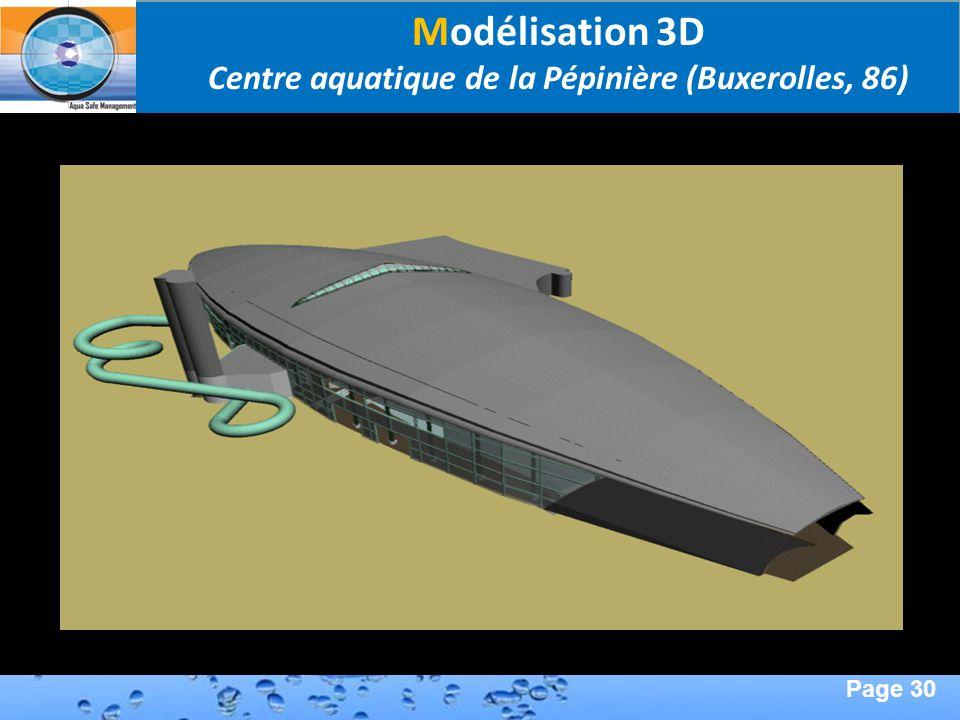 Page 30 Second Page : Modélisation 3D Centre aquatique de la Pépinière (Buxerolles, 86)