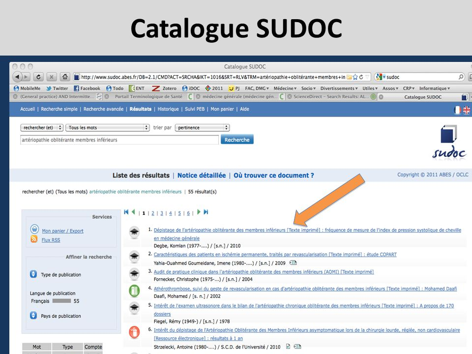 Catalogue SUDOC