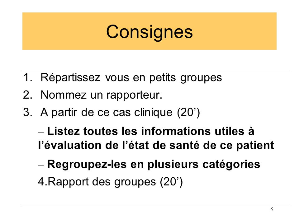 Plainte du patient Signes cliniques et paracliniques B PS Diagnostic d une pathologie Diagnostic de situation Contexte bio-psycho-social La démarche diagnostique en M.G.