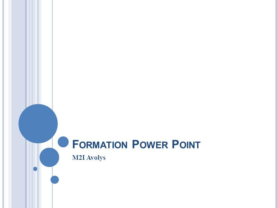 I NTRODUCTION Présentation du logiciel powerpoint Règles à connaître