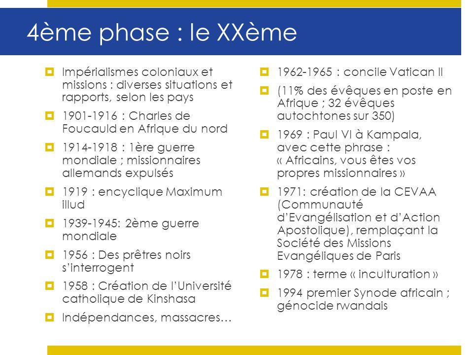 4ème phase : le XXème Impérialismes coloniaux et missions : diverses situations et rapports, selon les pays 1901-1916 : Charles de Foucauld en Afrique