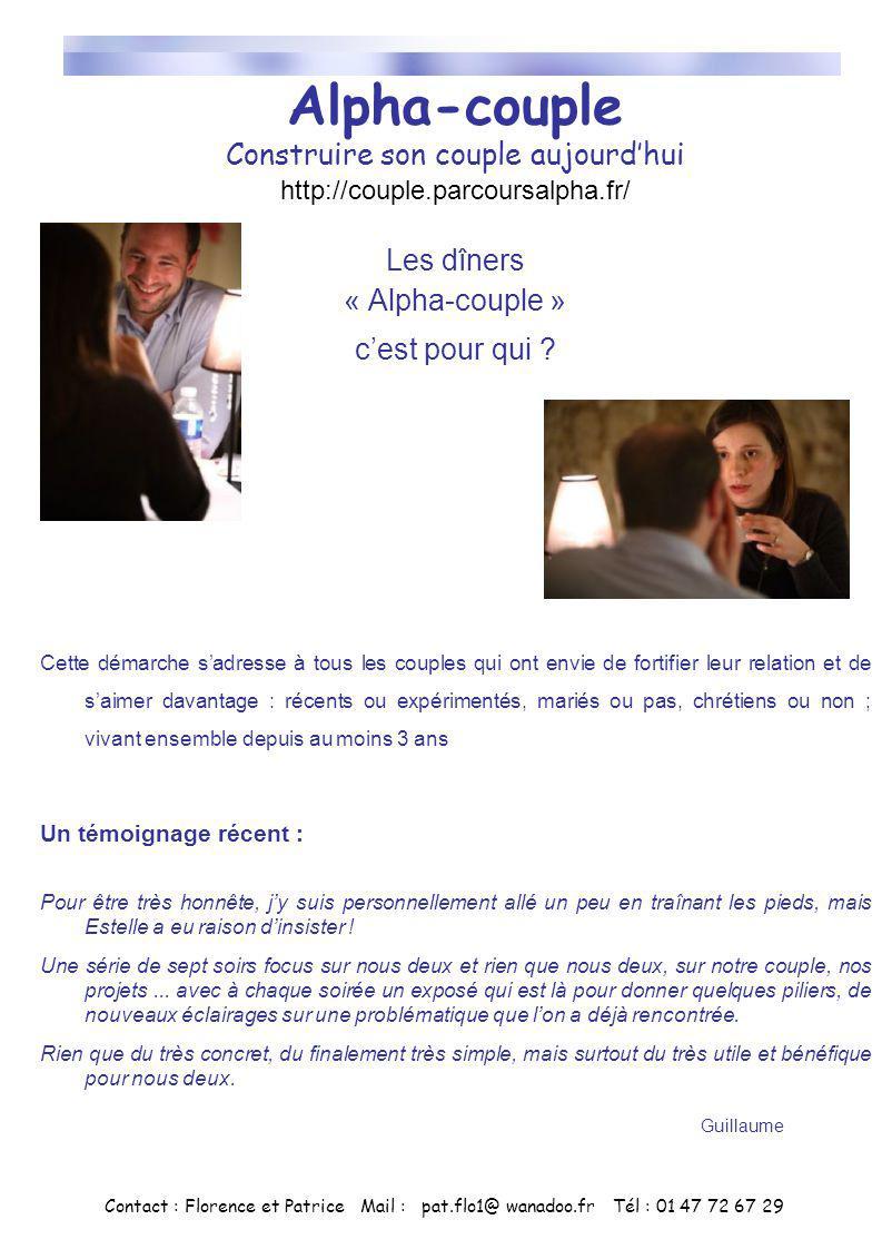 Alpha-couple Construire son couple aujourdhui http://couple.parcoursalpha.fr/ Les dîners « Alpha-couple » cest pour qui ? Cette démarche sadresse à to