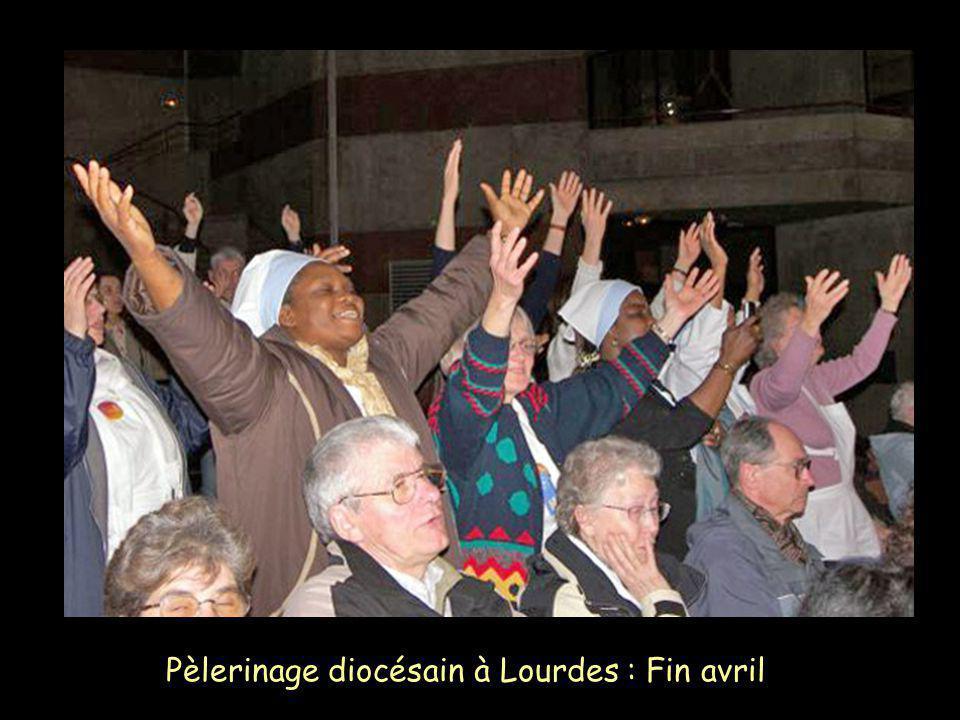 Pèlerinage diocésain à Lourdes : Fin avril