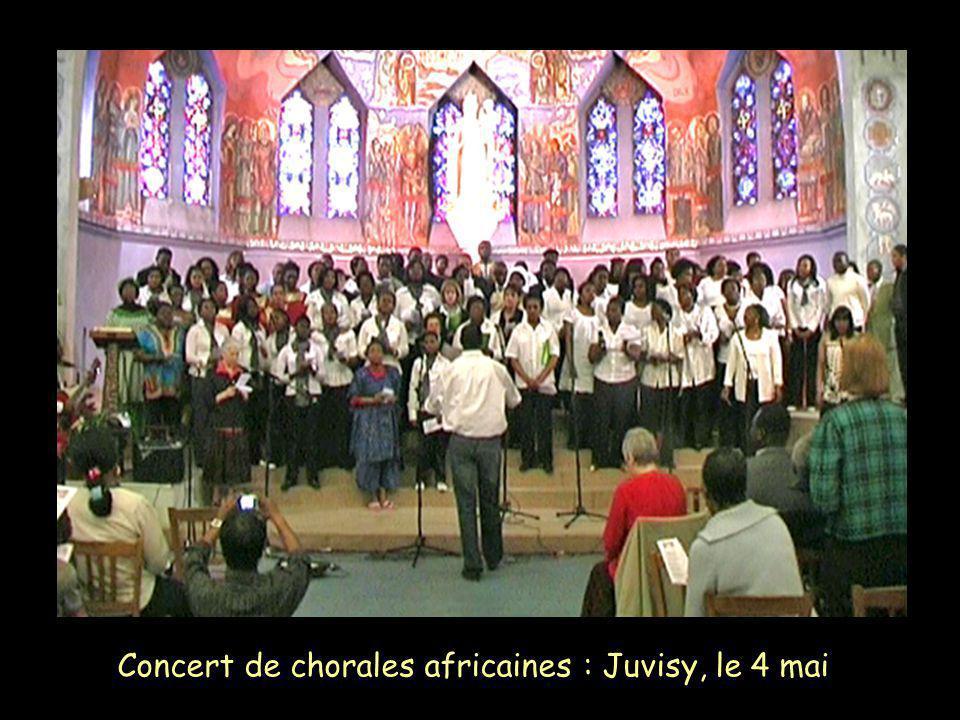 Concert de chorales africaines : Juvisy, le 4 mai