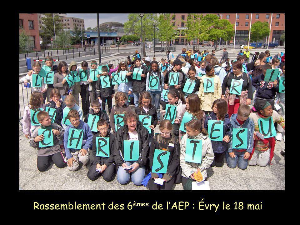 Rassemblement des 6 èmes de lAEP : Évry le 18 mai