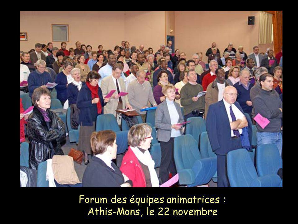 Forum des équipes animatrices : Athis-Mons, le 22 novembre