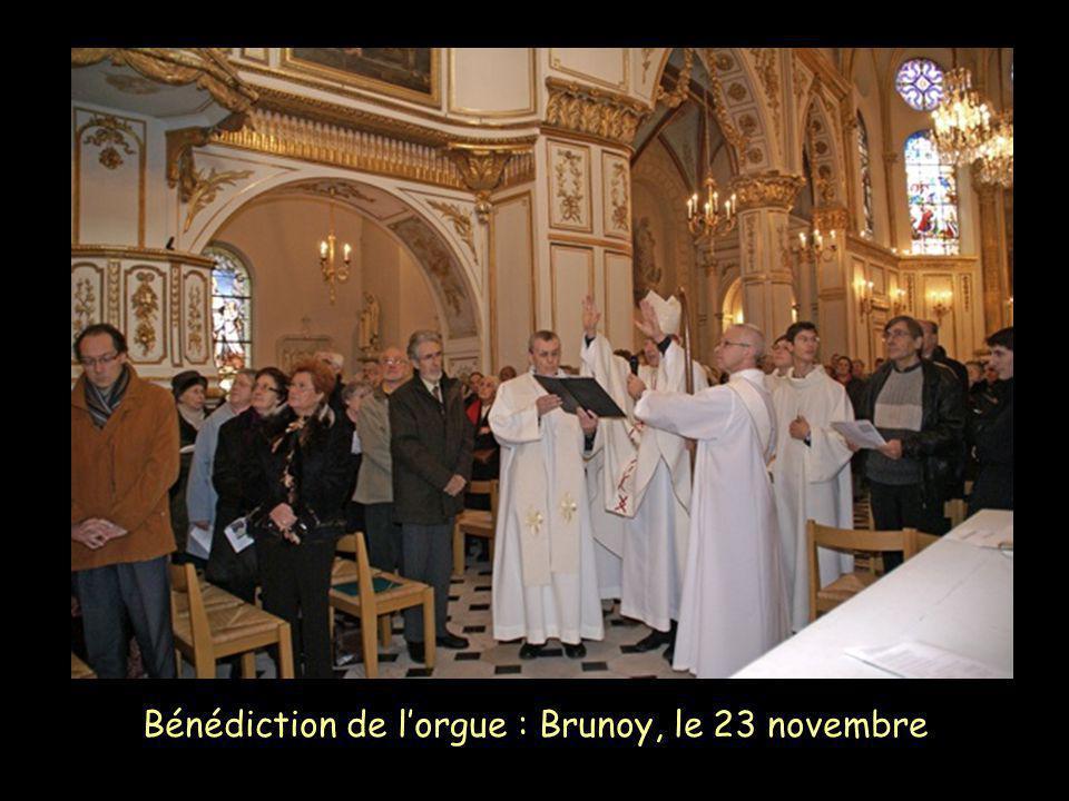 Bénédiction de lorgue : Brunoy, le 23 novembre