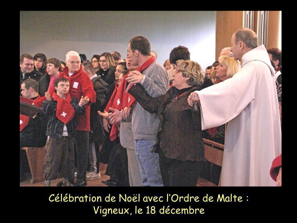 Célébration de Noël avec lOrdre de Malte : Vigneux, le 18 décembre