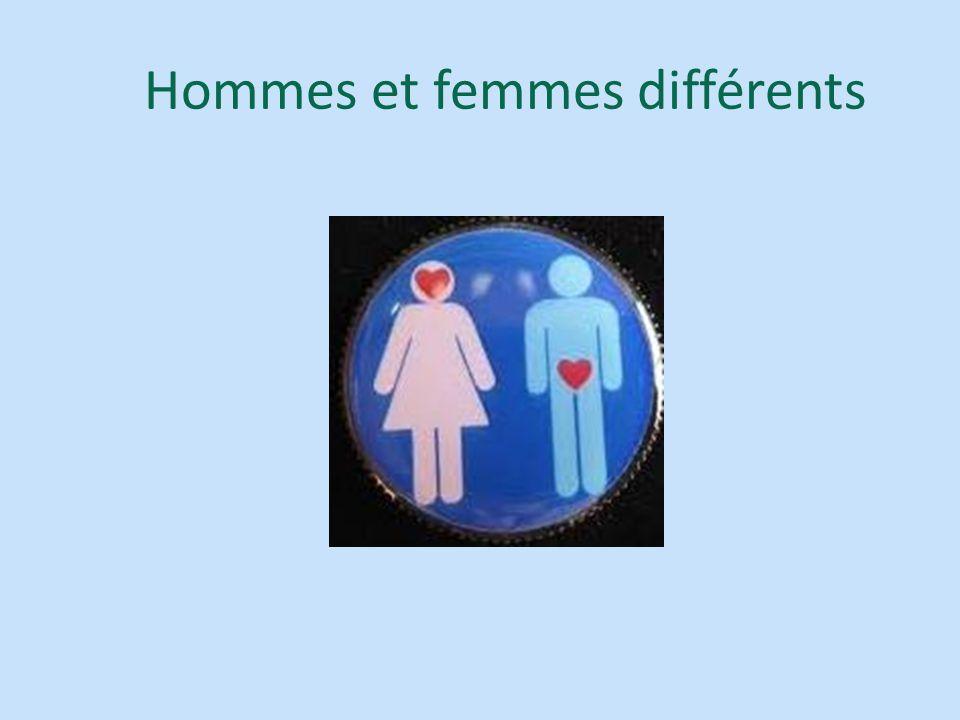 Hommes et femmes différents