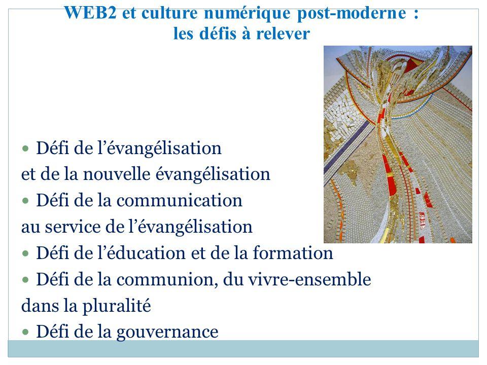 Défi de lévangélisation et de la nouvelle évangélisation Défi de la communication au service de lévangélisation Défi de léducation et de la formation