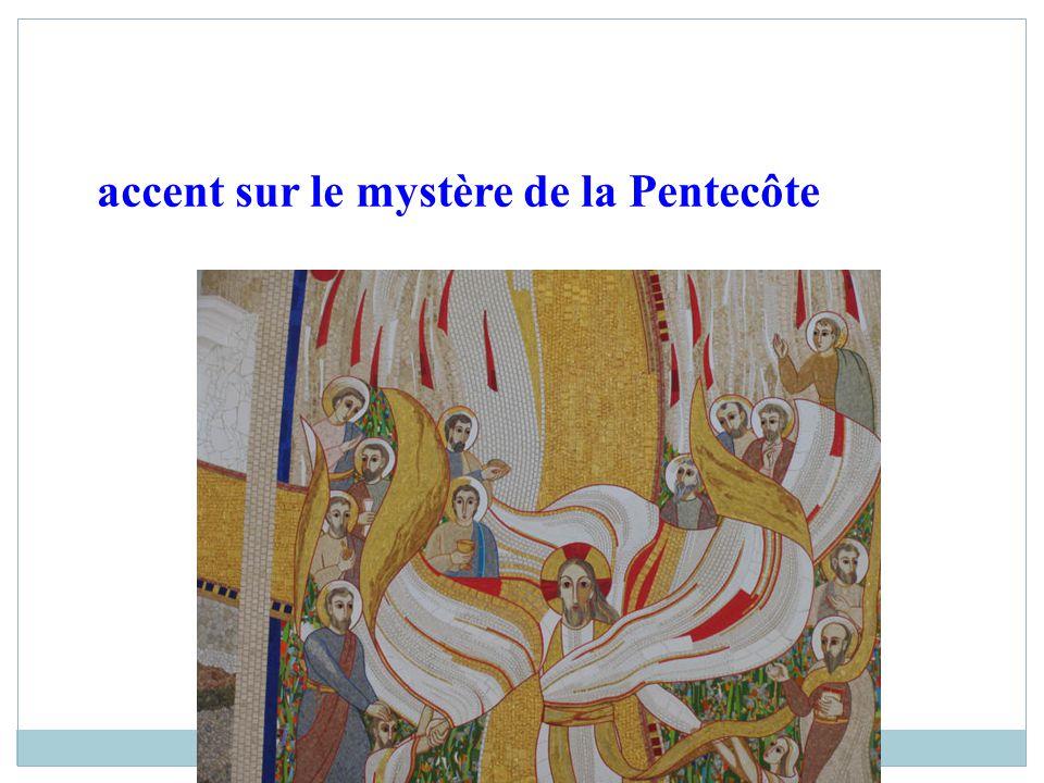 accent sur le mystère de la Pentecôte