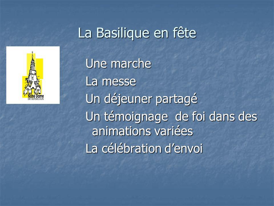 Une marche La messe Un déjeuner partagé Un témoignage de foi dans des animations variées La célébration denvoi