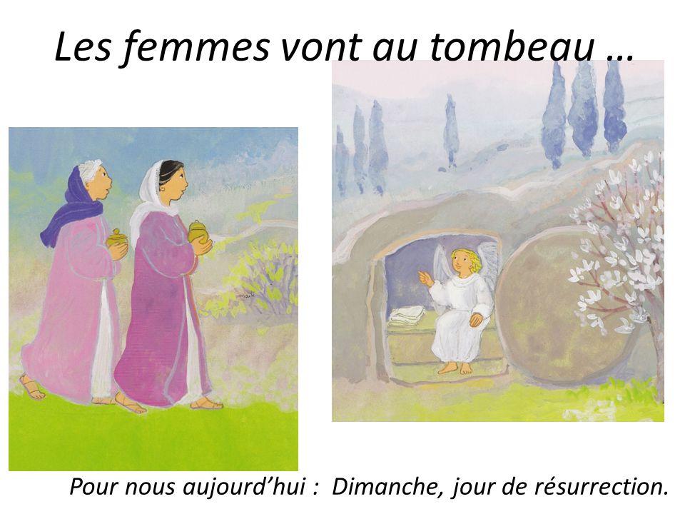 Les femmes vont au tombeau … Pour nous aujourdhui : Dimanche, jour de résurrection.