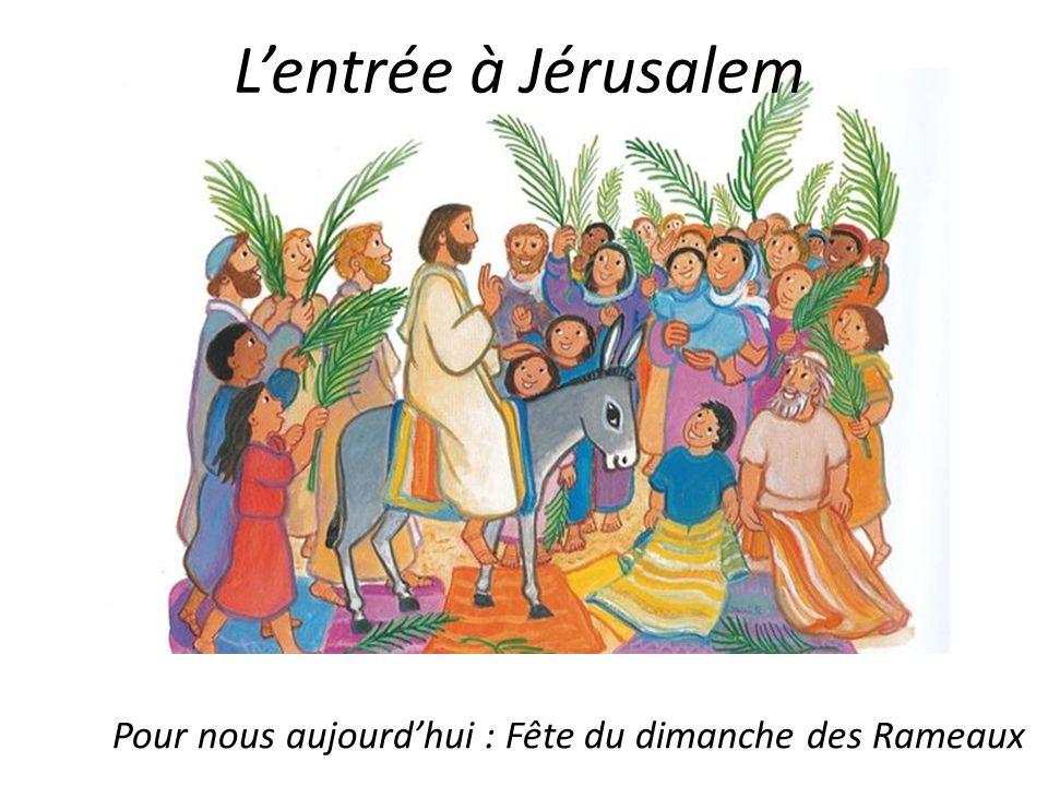 Quand il est entré dans Jérusalem, La foule a chanté son nom .