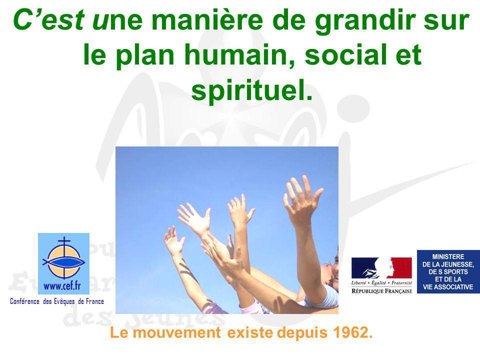 Cest une manière de grandir sur le plan humain, social et spirituel. Le mouvement existe depuis 1962. Conférence des Evêques de France