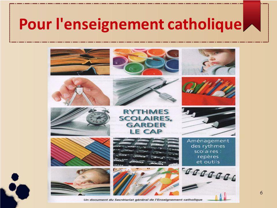 6 Pour l enseignement catholique