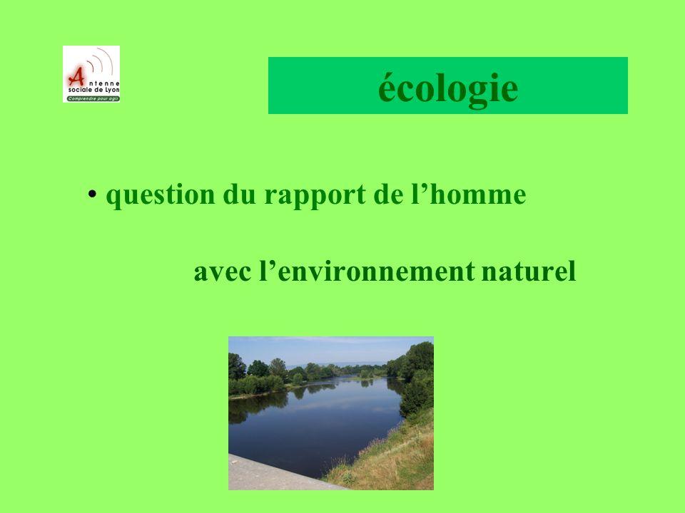 écologie question du rapport de lhomme avec lenvironnement naturel