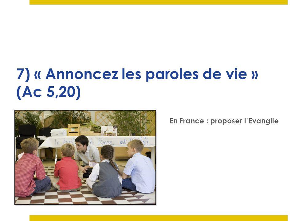 LEglise en France redécouvre le besoin dévangélisation : La Mission (aller vers) nest pas la seule propriété des OPM CM.