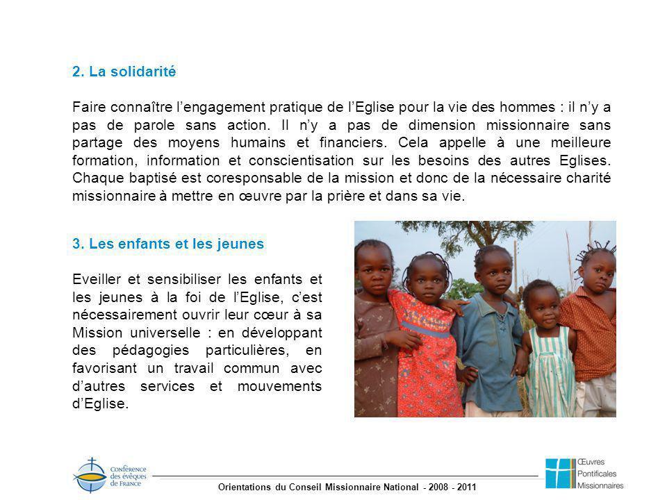 Orientations du Conseil Missionnaire National - 2008 - 2011 2.