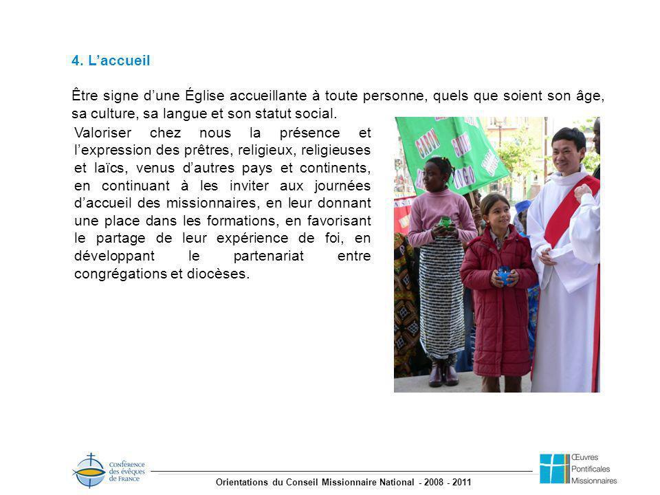 Orientations du Conseil Missionnaire National - 2008 - 2011 4.