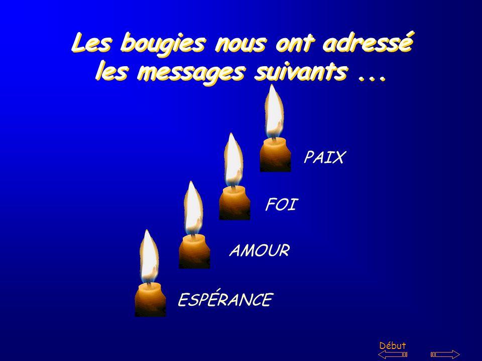 Les bougies nous ont adressé les messages suivants...