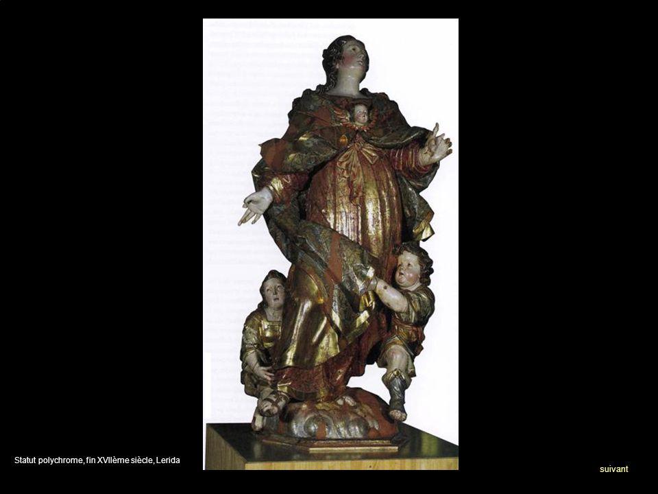 Statut polychrome, fin XVIIème siècle, Lerida suivant