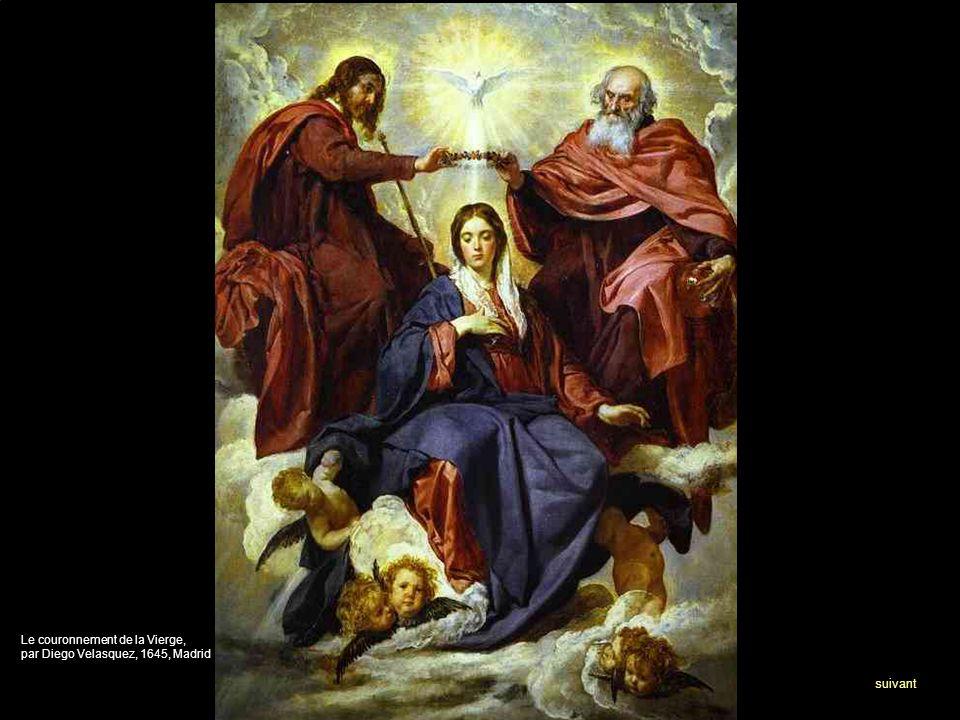 Le couronnement de la Vierge, par Diego Velasquez, 1645, Madrid suivant