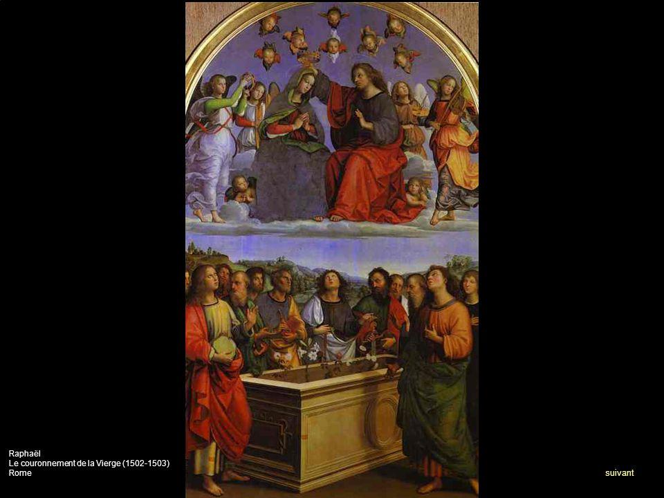 Raphaël Le couronnement de la Vierge (1502-1503) Rome suivant