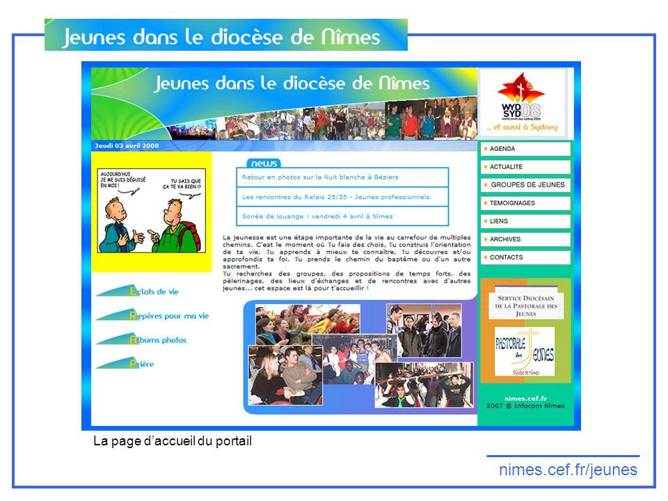 nimes.cef.fr/jeunes La page daccueil du portail