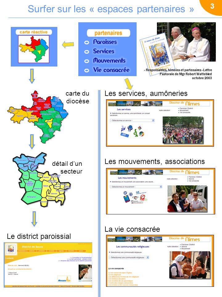 Espaces partenaires des districts paroissiaux 4 >> Les responsables des « Nouvelles » des espaces partenaires, participent aux formation au langage « grand public » et à lécriture des rédacteurs des journaux paroissiaux.