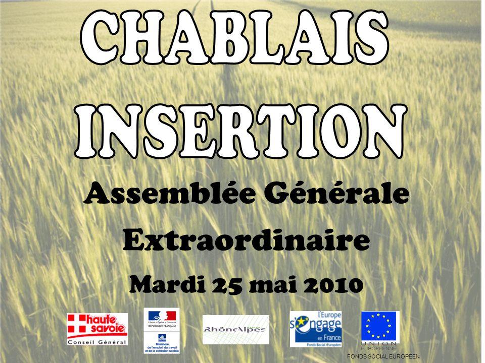 Assemblée Générale Extraordinaire Mardi 25 mai 2010 FONDS SOCIAL EUROPEEN