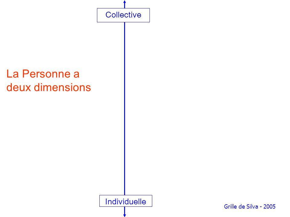 Collective Individuelle Grille de Silva - 2005 La Personne a deux dimensions