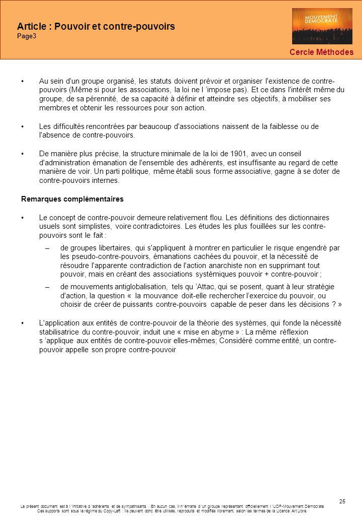 Le présent document est à l initiative d adhérents et de sympathisants. En aucun cas, il n émane d un groupe représentant officiellement l UDF-Mouveme