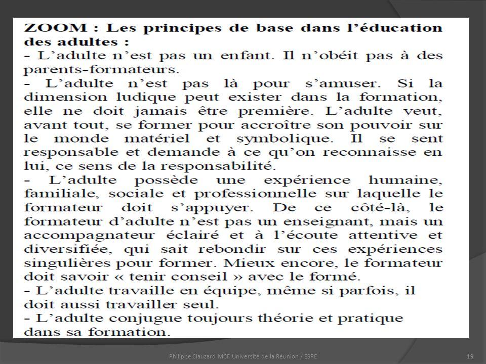 Philippe Clauzard MCF Université de la Réunion / ESPE19