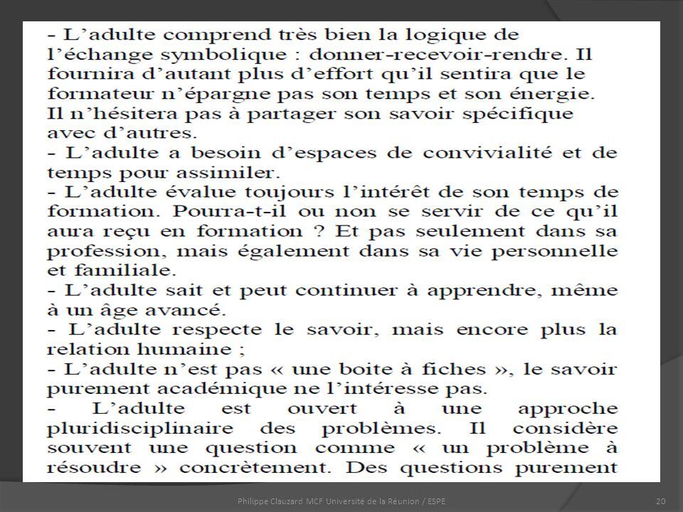 Philippe Clauzard MCF Université de la Réunion / ESPE20