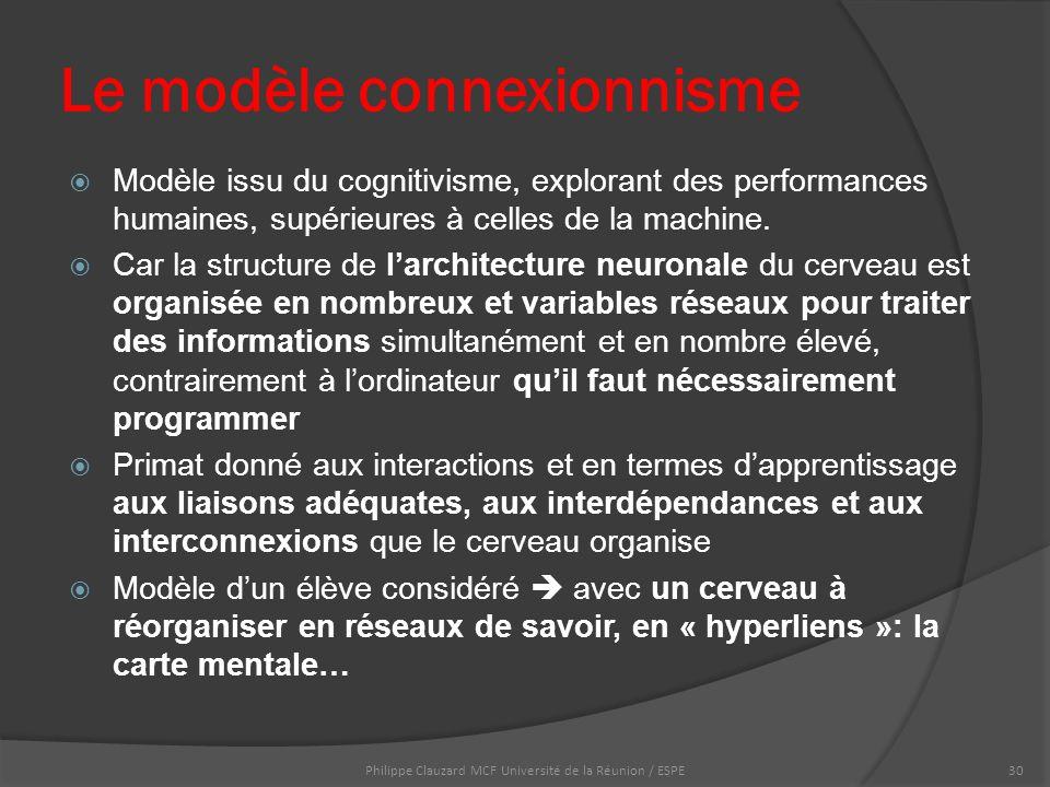  Modèle issu du cognitivisme, explorant des performances humaines, supérieures à celles de la machine.