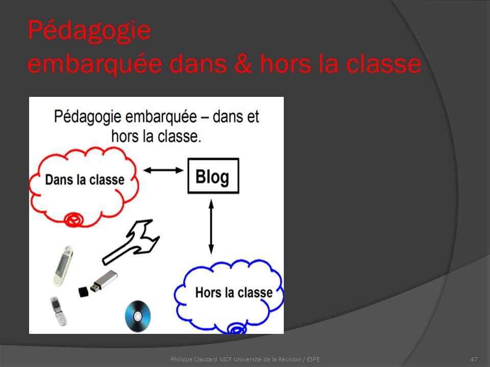 Pédagogie embarquée dans & hors la classe Philippe Clauzard MCF Université de la Réunion / ESPE47