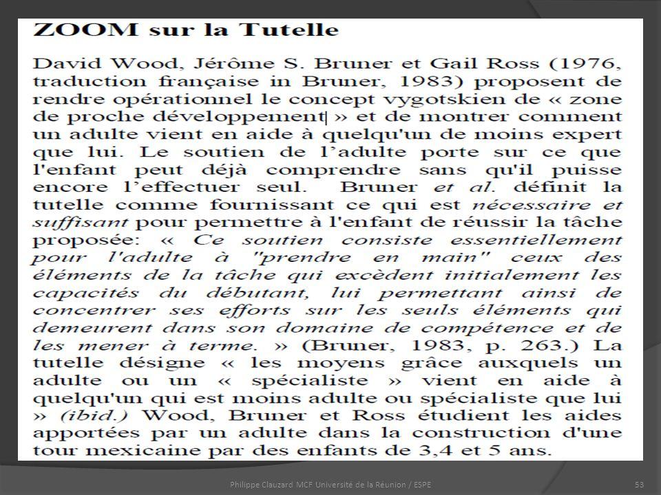 Philippe Clauzard MCF Université de la Réunion / ESPE53