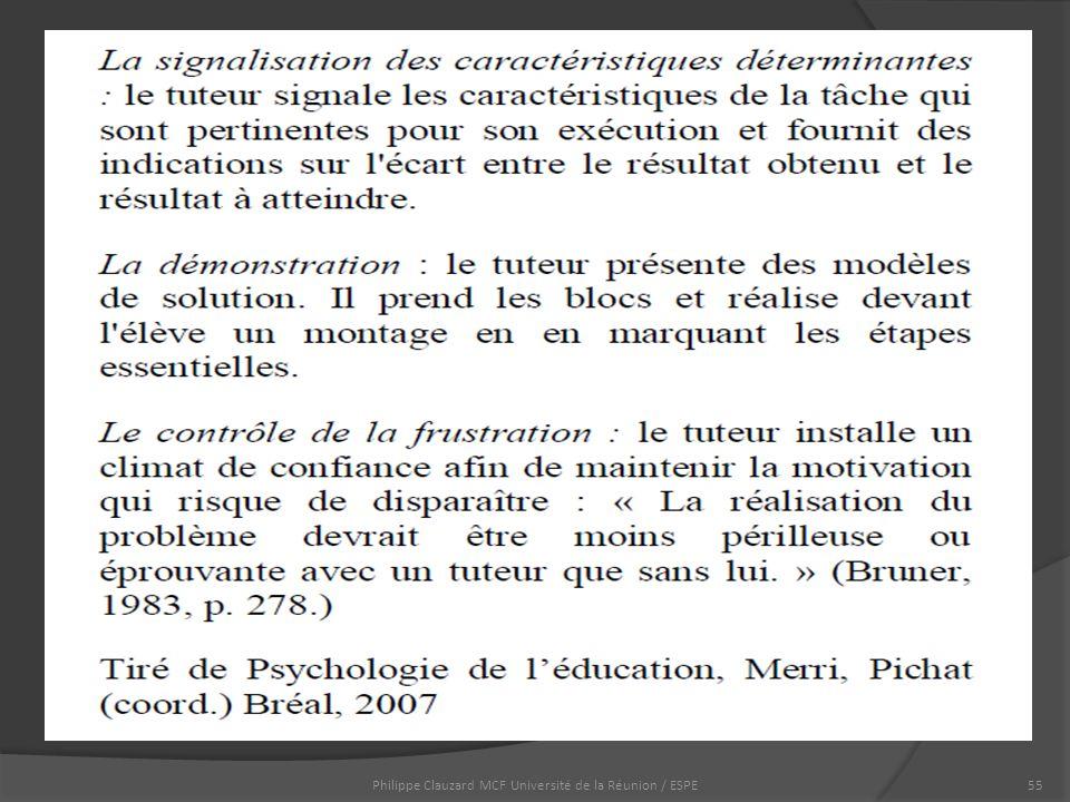 Philippe Clauzard MCF Université de la Réunion / ESPE55
