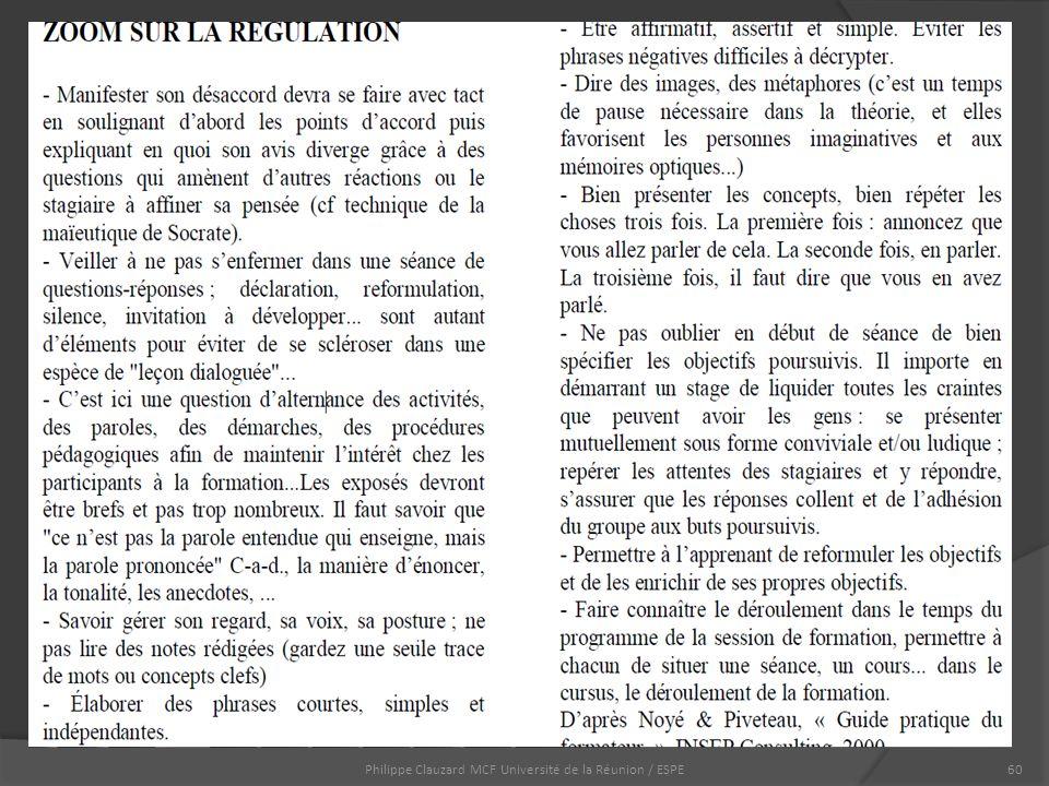 Philippe Clauzard MCF Université de la Réunion / ESPE60